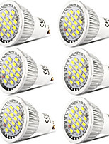 cheap -6pcs 5 W 400 lm GU10 LED Spotlight 16 LED Beads SMD 5730 Dimmable / Decorative Warm White / Cold White 220-240 V