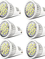 preiswerte -6pcs 5 W 400 lm GU10 LED Spot Lampen 16 LED-Perlen SMD 5730 Abblendbar / Dekorativ Warmes Weiß / Kühles Weiß 220-240 V