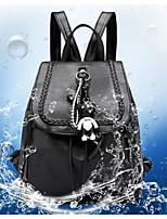 Недорогие -Универсальные Мешки PU рюкзак Однотонные Черный