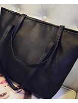 cheap -Women's Bags PU(Polyurethane) Tote Zipper Black / Purple / Fuchsia