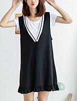 cheap -Women's Tank Top - Striped Dress