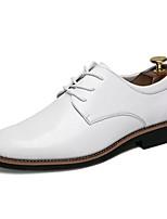 Недорогие -Муж. Искусственная кожа / Полиуретан Осень Удобная обувь Туфли на шнуровке Белый / Черный / Желтый