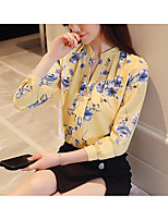 cheap -Women's Business / Basic Blouse - Floral / Geometric Tropical Leaf / Daisy / Sun Flower, Jacquard / Print