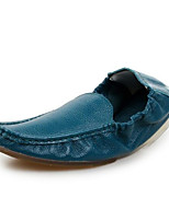 cheap -Men's Moccasin Nappa Leather Spring Loafers & Slip-Ons Black / Brown / Blue