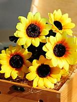 baratos -Flores artificiais 1 Ramo Clássico Moderno / Contemporâneo / Estilo simples Girassóis Flor de Mesa