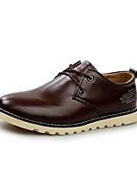 Недорогие -Муж. Искусственная кожа Весна лето Удобная обувь Туфли на шнуровке Черный / Коричневый / Темно-русый