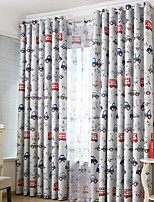 cheap -Kids Curtains Kids Room Geometric / Cartoon Cotton / Polyester Jacquard