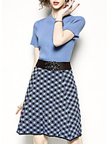 cheap -Women's Sweater - Polka Dot Skirt