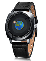 cheap -Men's Dress Watch / Wrist Watch Japanese Creative / Cool Genuine Leather Band Casual / Fashion Black