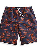 economico -Per uomo Costume nuoto a pantaloncino / Pantaloncini da mare Anti-pioggia, Ultra leggero (UL), Asciugatura rapida POLY Costumi da bagno Abbigliamento mare Boxer da surf / Pantaloni Stampa reattiva