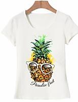 economico -T-shirt Per donna Essenziale Con stampe, Frutta Ananas