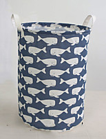 cheap -Fabrics Round Cute Home Organization, 1pc Storage Baskets