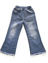 cheap -Kids Girls' Basic Solid Colored Cotton Jeans