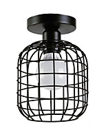 cheap -Modern Industrial Mini Metal Cage Ceiling Light Restaurant Cafe 1-Light Vintage Style Flush Mount Light