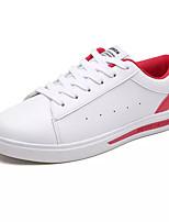 Недорогие -Муж. Полиуретан Осень Удобная обувь Кеды Контрастных цветов Красный / Черно-белый / Белое / серебро