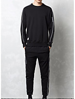 cheap -Men's Basic Activewear Set - Striped