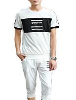 economico -Per uomo Essenziale Activewear Set Tinta unita