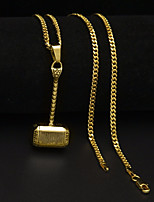 cheap -Men's Cuban Link / Thick Chain Pendant Necklace / Chain Necklace - Stainless Mini, Hammer Unique Design, European, Hip-Hop Gold, Silver 60 cm Necklace 1pc For Gift, Street
