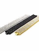 cheap -Men's AAA Cubic Zirconia Stylish Bracelet - Creative Simple, Trendy, Hyperbole Bracelet Gold / Black / Silver For Gift / Street