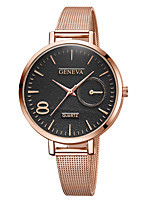 cheap -Geneva Women's Wrist Watch Quartz New Design Casual Watch Cool Alloy Band Analog Casual Fashion Black / Rose Gold - Black / Gold Rose Gold Black / Rose Gold One Year Battery Life