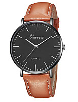 cheap -Geneva Women's Wrist Watch Quartz New Design Casual Watch Cool Leather Band Analog Casual Fashion Black / Brown - Brown black Gold / Brown Black / White One Year Battery Life