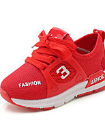 cheap -Girls' Shoes Mesh / PU(Polyurethane) Spring & Summer Comfort Athletic Shoes Walking Shoes for Toddler Black / Red / Pink