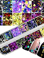 cheap -1pc Artificial Nail Tips Glitter Powder Fashionable Design / Luminous nail art Manicure Pedicure Retro Wedding Party / Daily Wear