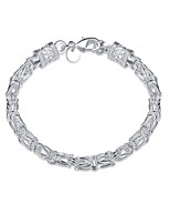 cheap -Men's Thick Chain / Hollow Chain Bracelet - Silver Plated Snake Simple, Basic Bracelet Silver For Daily / Work