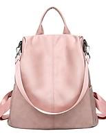 Недорогие -Жен. Мешки PU рюкзак Однотонные Черный / Розовый