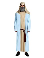 cheap -Pirates of the Caribbean Costume Men's Halloween Carnival Masquerade Festival / Holiday Halloween Costumes Outfits Ink Blue Solid Colored Halloween Halloween