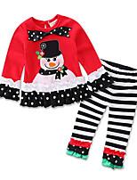 cheap -Baby Girls' Striped / Print Long Sleeve Clothing Set