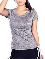 Недорогие -женская спортивная футболка - сплошной цветной шею