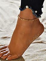 abordables -Chaîne unique Bracelet de cheville - Européen, Branché Or / Argent Pour Cadeau / Sortie / Femme