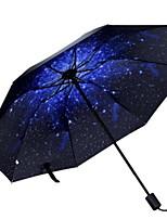 Недорогие -Полиэстер / Нержавеющая сталь Все Recyclable Складные зонты
