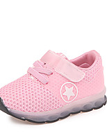 cheap -Girls' Shoes Mesh / PU(Polyurethane) Spring & Summer Comfort Athletic Shoes Walking Shoes LED for Kids Black / Gray / Pink