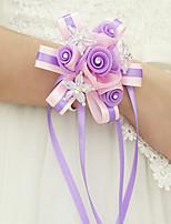 Недорогие -Свадебные цветы Букетик на запястье Вечерние / Свадебные прием Полиэстер 0-10 cm