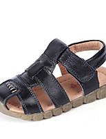 Недорогие -Девочки Обувь Кожа Лето Удобная обувь Сандалии для Белый / Черный / Коричневый