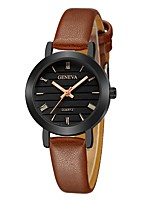 cheap -Geneva Women's Wrist Watch Chinese New Design / Casual Watch / Cool Leather Band Casual / Fashion Black / Brown / Beige