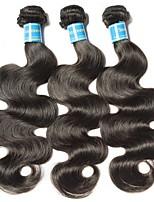 Недорогие -3 Связки Бразильские волосы Естественные кудри Не подвергавшиеся окрашиванию Человека ткет Волосы 8-28 дюймовый Ткет человеческих волос Машинное плетение Лучшее качество / 100% девственница