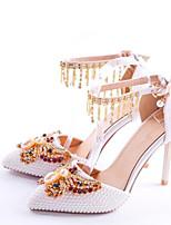 economico -Per donna Scarpe PU (Poliuretano) Autunno inverno D'Orsay scarpe da sposa A stiletto Appuntite Con diamantini / Fiocco / Fibbia Bianco / Matrimonio / Serata e festa