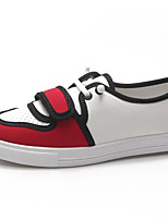 cheap -Women's Shoes Canvas Summer Comfort Sneakers Flat Heel White / Yellow / Red