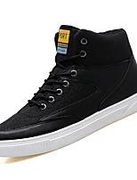 Недорогие -Муж. Полиуретан Осень Удобная обувь Кеды Черный / Темно-серый / Хаки
