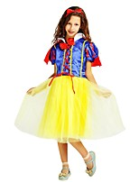 cheap -Princess Outfits Girls' Halloween / Carnival / Children's Day Festival / Holiday Halloween Costumes Yellow Solid Colored / Halloween Halloween