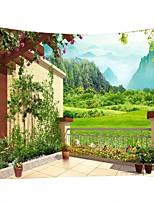Недорогие -Семья / Цветочный горшок Декор стены 100% полиэстер Modern Предметы искусства, Стена Гобелены Украшение