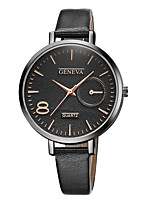 cheap -Geneva Women's Wrist Watch Quartz New Design Casual Watch Cool Leather Band Analog Casual Fashion Black / Brown - Black / Silver White / Brown Black / Rose Gold One Year Battery Life