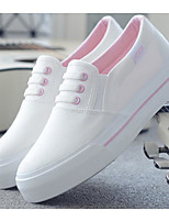 cheap -Women's Shoes Canvas Spring / Summer Comfort / Vulcanized Shoes Sneakers Flat Heel Black / Pink / White / White / Blue