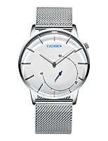 baratos -CADISEN Homens Relógio de Pulso Chinês Impermeável / Relógio Casual Aço Inoxidável Banda Fashion / Minimalista Branco / Dois anos / Sony SR626SW + CR2025