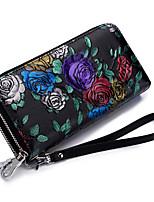 cheap -Women's Bags Cowhide Wallet Zipper / Embossed Gold / Black / Silver