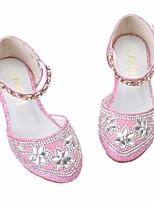 Недорогие -Девочки Обувь Полиуретан Весна & осень Детская праздничная обувь / Крошечные Каблуки для подростков Обувь на каблуках для Серебряный / Розовый