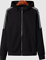 cheap -Men's Hoodie / Activewear Set - Solid Colored / Striped, Print